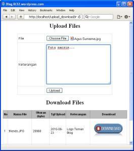 Membuat Aplikasi Upload dan Download File dengan PHP