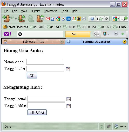 Membuat aplikasi Web menggunakan kalender Javascript   RI32's WEBLOG