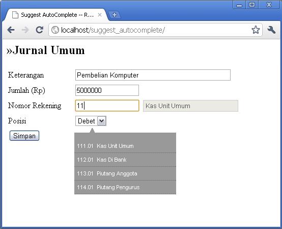 Contoh Program Kasir Dengan Php Include File