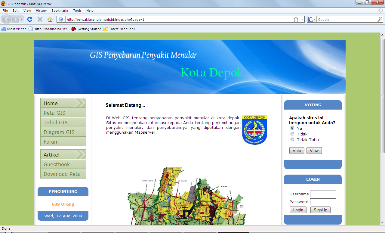Download Source Code Website GIS PHP MapServer | PROJECT AKHIR 88