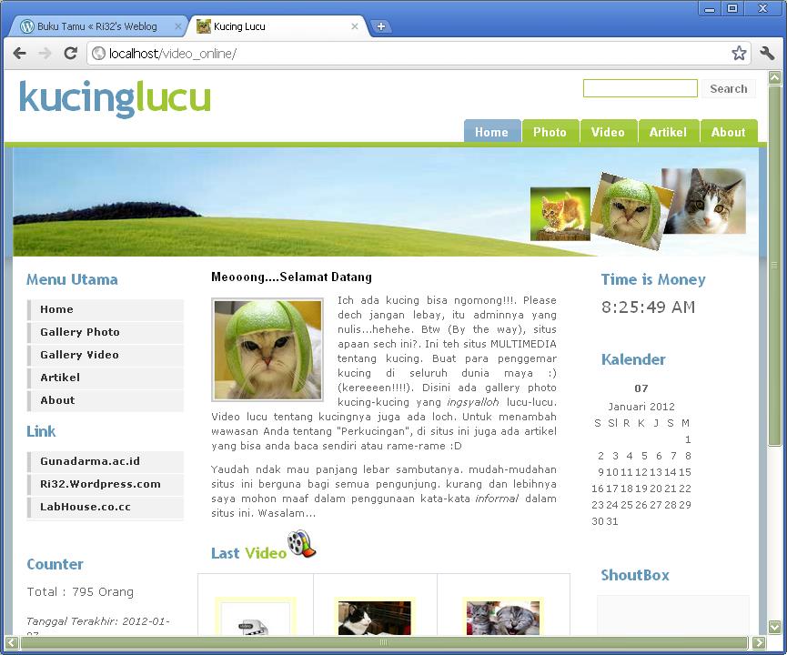 membuat halaman awal web dengan php membuat halaman