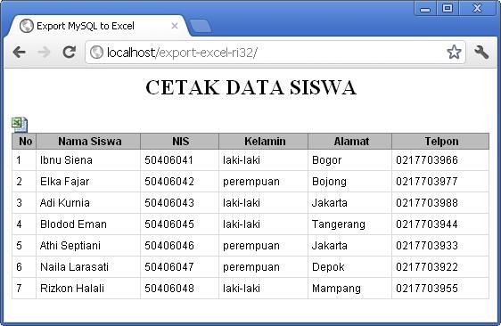 Membuat Script PHP Export Data MySQL Ke File Text