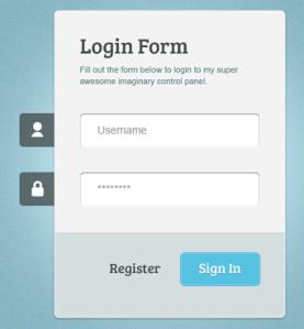 Free CSS Template Administrator dan Form Login